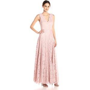 Vera Wang Pink Doubke V Lace Dress